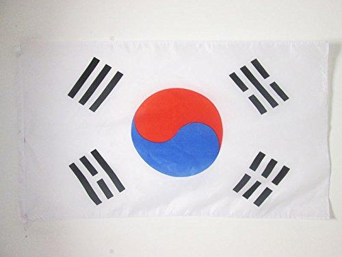 AZ FLAG Flagge SÜDKOREA 150x90cm - KOREANISCHE Fahne 90 x 150 cm Scheide für Mast - flaggen feiner Polyester