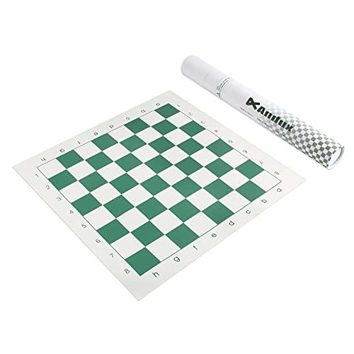 Andux Chess Game Tablero de ajedrez Enrollable XQQP-01 (Verde, 42x42 cm)