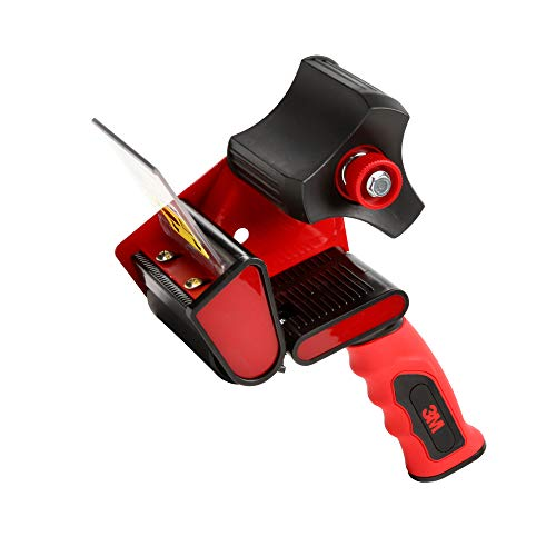 """Scotch HR83 Hand-Held Packing Tape Dispenser with Retractable Blade for 3"""" Tape – Lightweight and Portable for Commercial Packaging, Shipping, Moving, Carton and Box Sealing"""