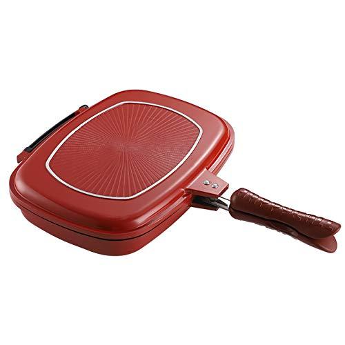 N \ A Poêle à Frire carrée Double Face, Plateaux d'omelette de Cuisine antiadhésive pour la Cuisson des crêpes, Omelette pour Le Petit déjeuner, Grille-Pain pour Le Camping intérieur/extérieur