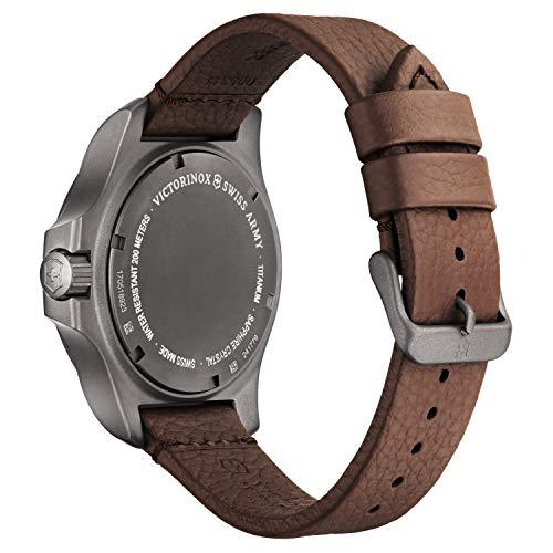 Victorinox Swiss Army Men's I.N.O.X. Titanium Swiss-Quartz Watch with Leather Strap, Brown, 21 (Model: 241779)