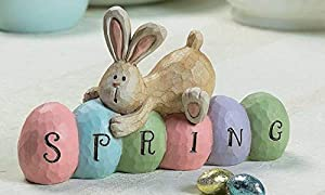 Exquisite Design: Easter home hanging decor sign with hang rope Easter welcome decoration is a nice gift for friends and family, or a delicate gift for your own home Easy to Hang: this Easter wall decor can be hung on the wall with a rope at any time...