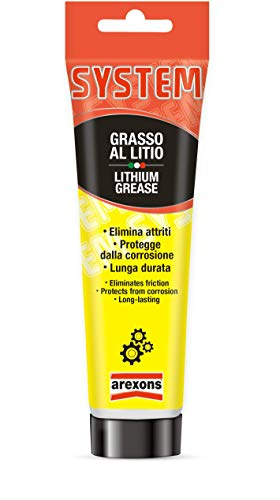 Arexons System Grasso al litio 100 ml, Lubrificante al sapone di litio, Riduce l'attrito e protegge dalla corrosione, Grasso al litio resistente al calore e all'acqua