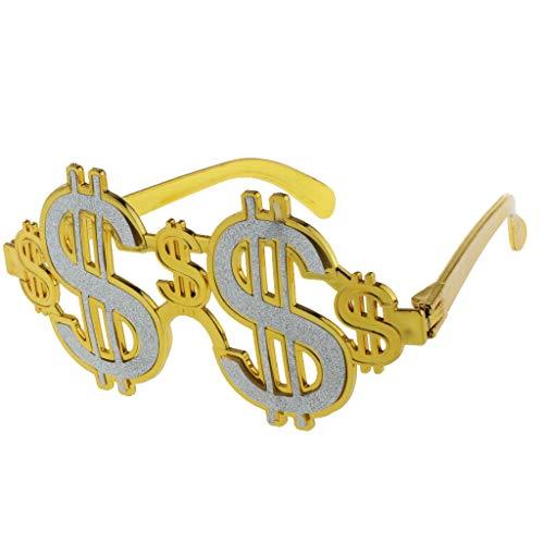 harayaa - Disfraz de Signo de Dólar con Purpurina, para Adultos, Niños, Anteojos, Regalos para Fiestas, Regalos