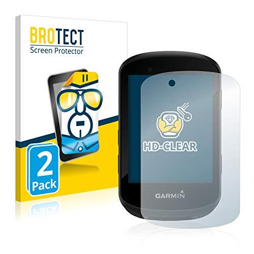 BROTECT Protector Pantalla Compatible con Garmin Edge 530 / Edge 830 Protector Transparente (2 Unidades) Anti-Huellas