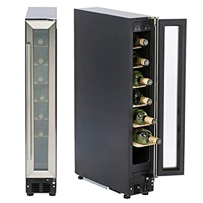 SIA WC15SS 150mm / 15cm Stainless Steel Under Counter LED 7 Bottle Wine Cooler from Sia