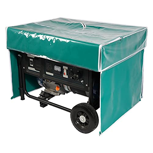 Portable All-Weather Tarpaulin Double Waterproof Rain Shelter Generator Running Cover/Tent for Most 3500w-12000w generators, Green