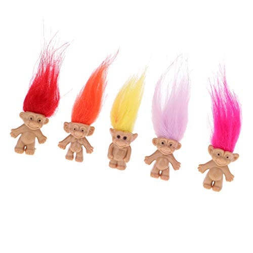F Fityle 人形 ドール トロール人形 ミニドール トロールドール ラッキードール フィギュア玩具 5点セット 1