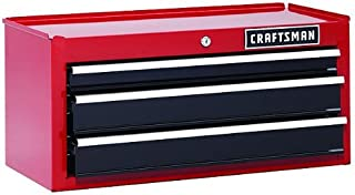 Craftsman 26 In. 3-drawer Chest Heavy-duty Ball Bearing Middle Chest -Red Tool Box Backed By 6-year Limited Warranty