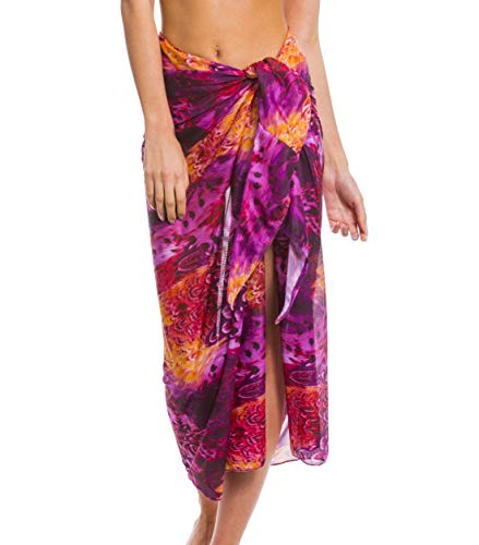 Kiniki Amalfi Purple Tan Through Sonnendurchlässiger Strandsarong Damen Bademode Accessoire