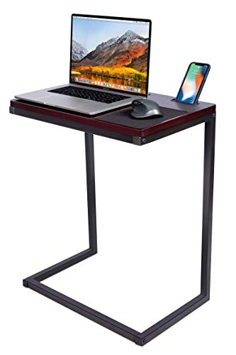 Sofia + Sam Sofa Table TV Tray with Tablet and Phone Slots - Work from Home - Laptop Stand for Couch Bed - Metal Legs - Console Lapdesk -...