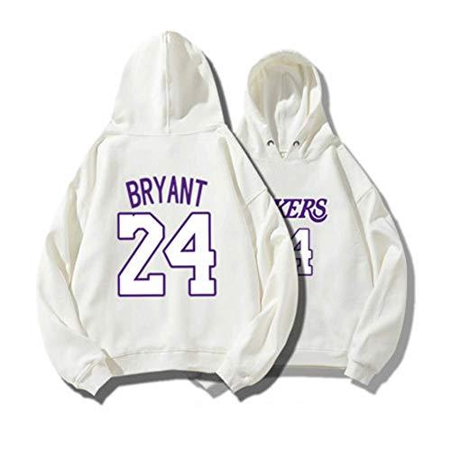Männer und Frauen Basketball Hoodie, Lakers 24# Kobe Jersey Hooded Loose Basketball Sweatshirt-165