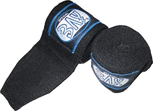 BAY Kinder Boxbandagen dünner Leichter Easy Klett Box-Bandagen (schwarz 1,5 m)