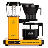 Moccamaster 53815 KBG Select UK Plug Filter Coffee Machine, Aluminium, 1520 W, 1.25 liters, Yellow Pepper