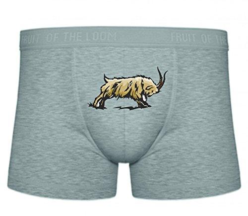 Druckerlebnis24 Boxershort Bock Ziege rammt mit Hörnern Nutzvieh Weide Gras Land S- XXL Sexy Unterhose Slip Shorts