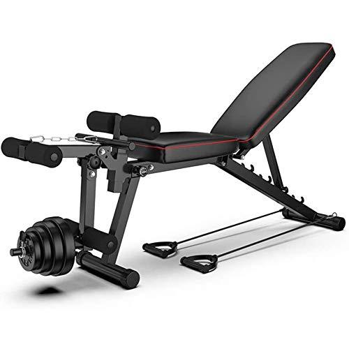 WBZ ZJX Verstellbare Hantelbank, Hantel Hocker Folding, Mit Beinstrecker Und Beinbeuger, Professionelle Fitness-Stuhl