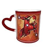Iron Man - Tazze da caffè, tazze da tè in ceramica con design fresco, per caffè, tè, cacao e bevande brullate, colore: rosso