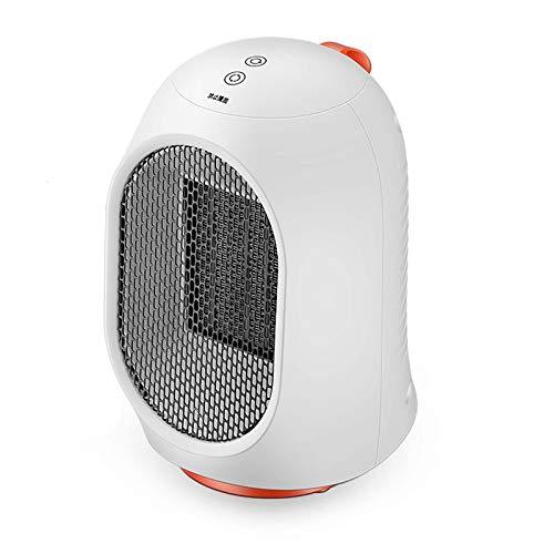 Mini Portable Calefactor Eléctrico,Vertical Cerámica Ventilador Calefactor Protección Contra Sobrecalentamiento Oscilación Automática 2 Engranajes Ajustables Calefactor Eléctrico P-Blanco 14x15x23cm