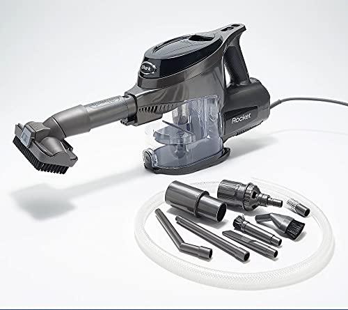 Shark Rocket Ultra Light Hand Vacuum Cleaner and Car Detail Kit and 15-Foot Power Cord Hand Vacuum, Black (Renewed)