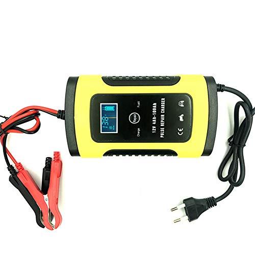 Cargador de batería de coche de moto completamente automático 12 V 6 A inteligente rápido potencia carga batería de plomo ácido pantalla digital LCD