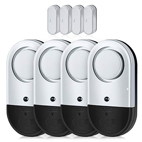 Door Window Alarm, Toeeson 120DB Door Alarms for Kids Safety, Slim Pool Window Alarms for Home
