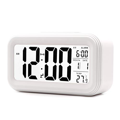 JJCALL Alarm Clock LED Display Digital Alarm Clock Snooze Night Light...