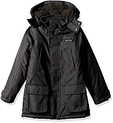 Nautica Boys' Little Heavyweight Snorkel Jacket, Ballistic Black, Medium (5)