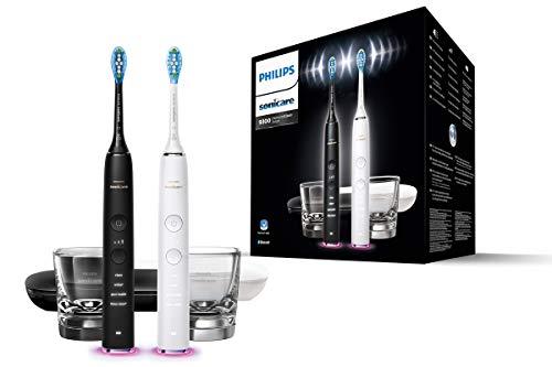Philips Sonicare Diamondclean Smart Elektrische Tandenborstel Met Usb-Reislader (Zwart En Wit) Dubbelpak Zwart