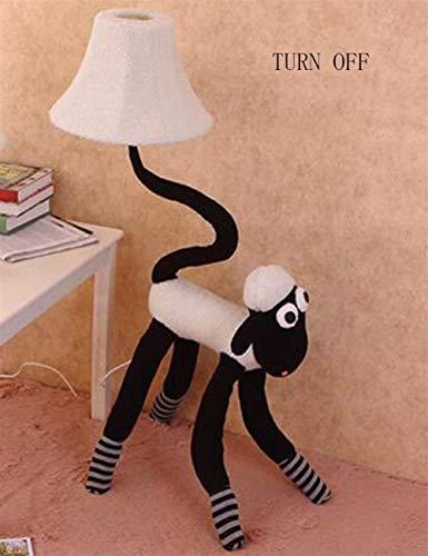 BJLWTQ Lámpara de pie, Luces de Piso de Tela for Habitaciones de niños Creativo de la Historieta de pie luminarias for la Sala de Estudio de Bulbo Dormitorio Incluido, el 2 Luz para Leer,