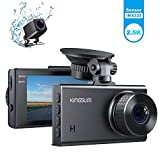 Kingslim D2 Dual Dash Cam, 2.5K&1080P Front and Rear Car Camera, 170 Degree