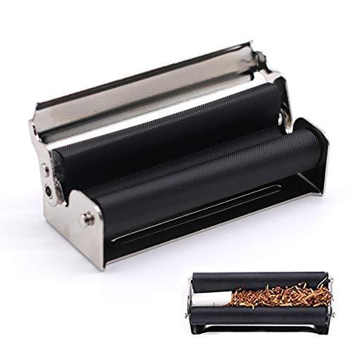 Sigarette Maker, Macchinetta per Arrotolare Sigarette, Macchinetta per Arrotolare Sigarette, 70mm Tabacchi Rollare Macchinetta Metallo per Crea Le tue Sigarette Nero