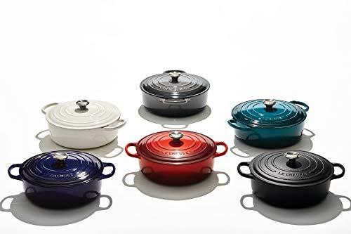 Le Creuset Enameled Cast Iron Signature Round Wide Dutch Oven, 6.75 qt., Deep Teal