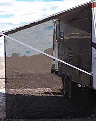 Tentproinc RV Awning Side Sun Shade Net Complete Kits Drop Motorhome Trailer Sunblocker Screen Retractable Tarp Mesh Canopy Shelter - 3 Years Guarantee Limited …
