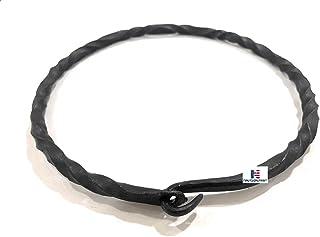 Iron Viking Warrior Torc Necklace - Black