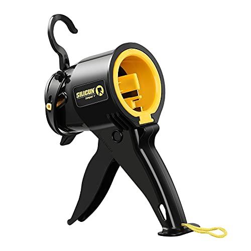 Portable Caulking Gun, SeeSii Mini Portable Manual Silicone Caulking Gun Insulating Seam for Sealing Caulking Filling, Comfort Grip