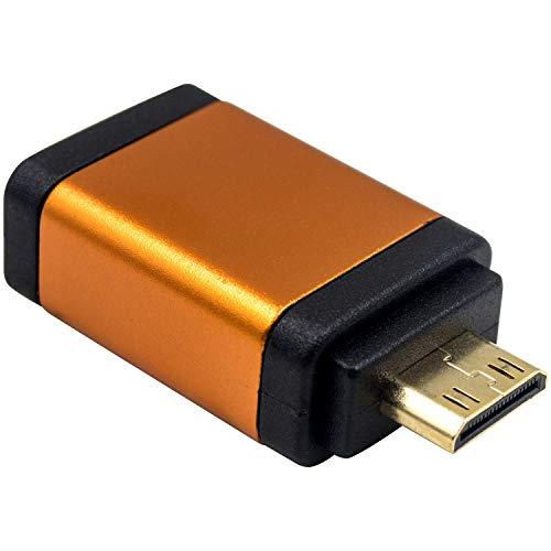 Duttek - Adaptador HDMI a Mini HDMI Macho a HDMI Hembra, 4 kx2k@60 Hz, Ultra HD UHD 1080p Full HD, Adaptador de vídeo Compatible con Raspberry Pi,Tableta, Tarjeta de vídeo,etc. (Naranja)