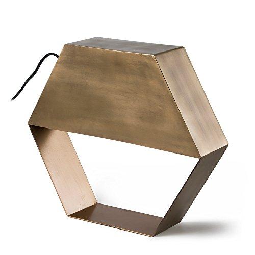 Kave Home - Lámpara de sobremesa Bidi dorada de acero