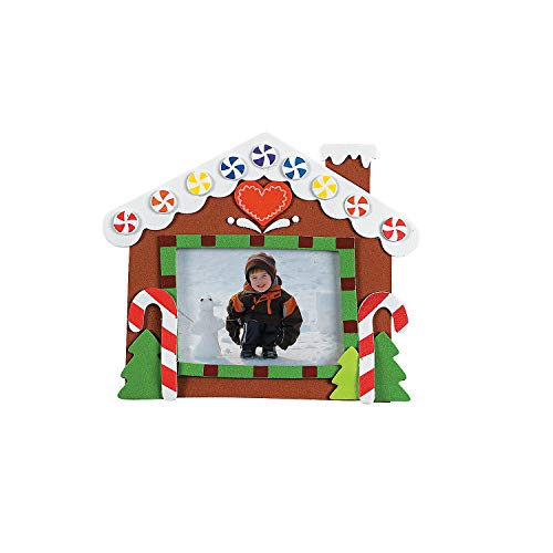 Christmas Picture Frame Craft Kits -12 Pack - Gingerbread House