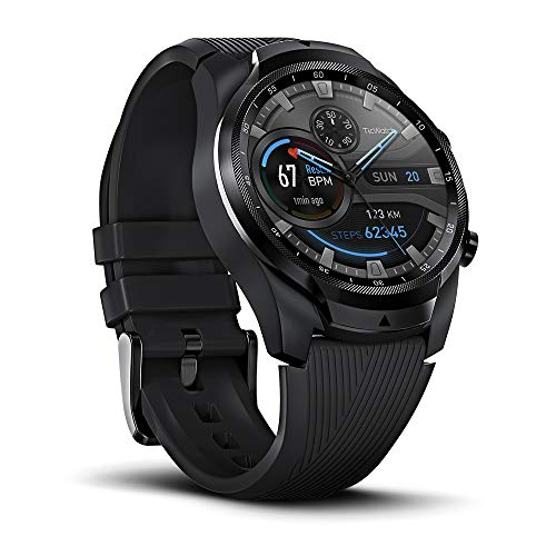 TicWatch Pro 4G LTE Cellular Smartwatch GPS NFC Wear OS by Google Android Health and Fitness Calls Notifications Music Swim Sleep Tracking Heart Rate Monitor US Version