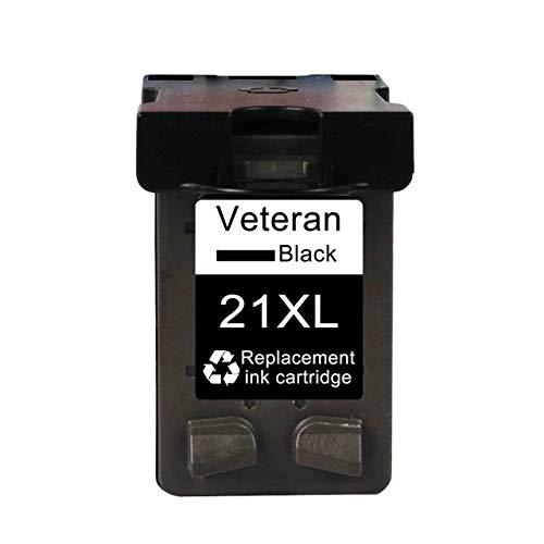LIUYB Cartucho de Ajuste Veterano de 21 CV 22 for HP21 HP22 los Cartuchos de Tinta Aptos for HP Deskjet F2180 F2200 F2280 F4180 F300 F380 380 impresoras D2300 (Color : 21XL Black)