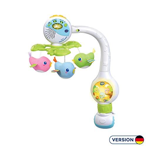 Vtech 80-513104 2-in-1 Zwitschermobile Babyspielzeug, Mehrfarbig