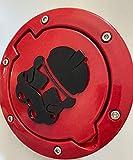 Stickysight.com Storm Trooper in 3D - Red with Black for Jeep Wrangler JK/JKU Flag Gas Cap Cover - Stormtrooper