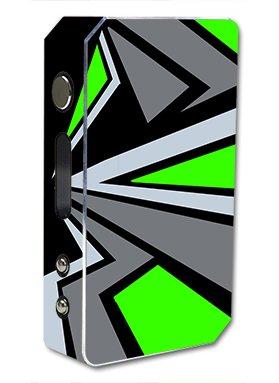 Skin Decal Vinyl Wrap for Pioneer 4 You ipv3 LI 165w watt Vape Mod Box / Triangle Pattern Green Grey