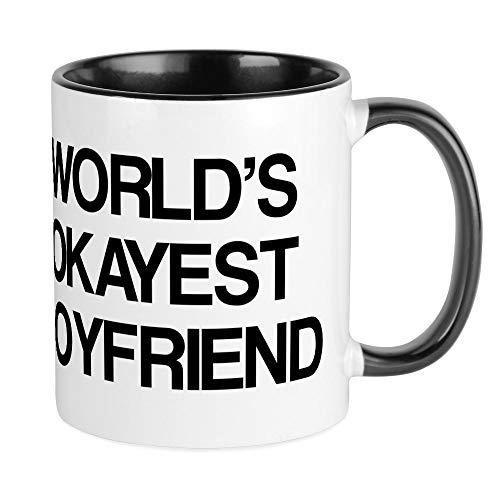CafePress World's Okayest Boyfriend Mug Unique Coffee Mug, Coffee Cup, Tea...