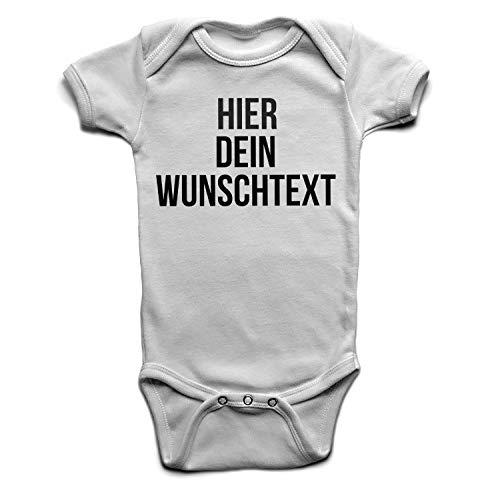 Baby Body mit Wunschtext - Selber gestalten mit dem Amazon Designertool - Tshirt Druck - Shirt Designer Babybody Strampler White 3-6 Monate