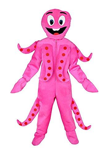 Krake pink Einheitsgrösse L -XL Kostüm Oktopus Fasching Karneval Hai Tintenfisch