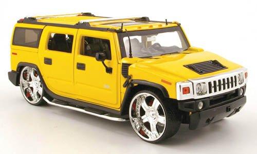 Hummer H2 Tuning, met.-gelb, Modellauto, Fertigmodell, Jada 1:24