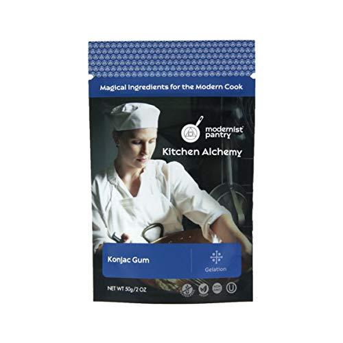 Pure Konjac Gum [Glucomannan Powder] ⊘ Non-GMO ❤ Gluten-Free ☮ Vegan ✡ OU Kosher Certified - 50g/2oz