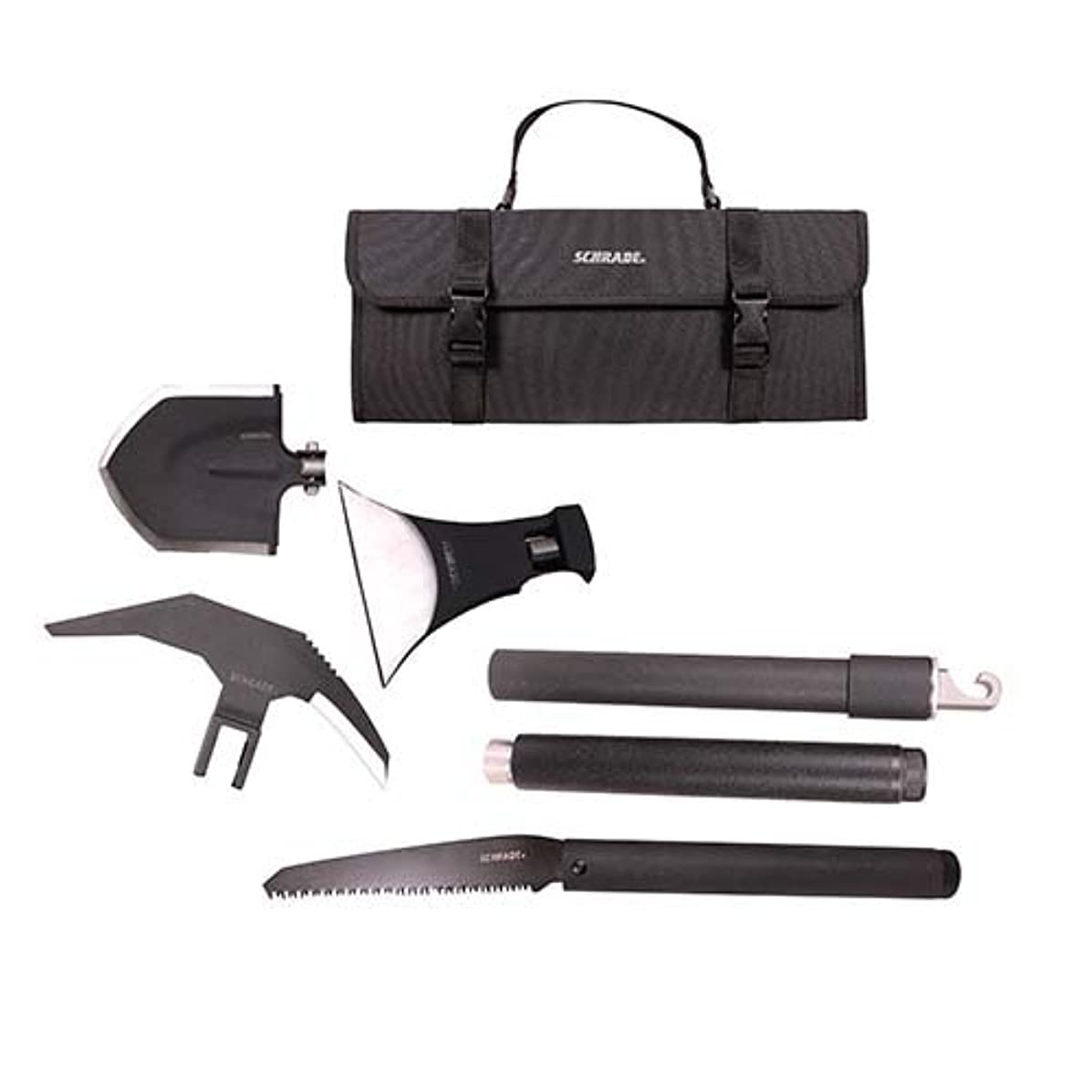 Schrade SCHEXC Outdoor Survival Kit with Expandable, Interchangeable Tool System for Emergency, Camping, Hiking and Outdoors