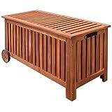 vidaXL Gartenbox mit Rädern - 118 x 52 x 58 cm